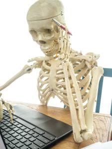 Skeleton Paying Bills