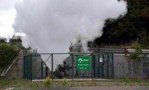 L'inaugurazione, al villaggio Enel Green Power di Larderello (Pisa), del nuovo museo nazionale della Geotermia, 30 settembre 2013. Si tratta di una struttura completamente rinnovata ad alto contenuto tecnologico e multimediale, aperta al mondo delle scuole, della ricerca e a quanti desiderano conoscere il fenomeno geotermico e i suoi sviluppi industriali. ANSA/STRINGER